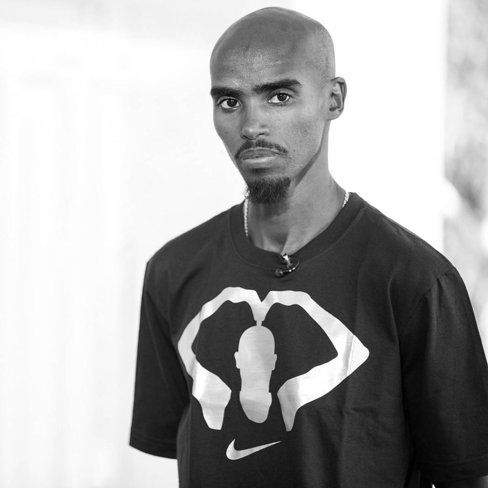 Mo Farah portrait by Tracy Howl